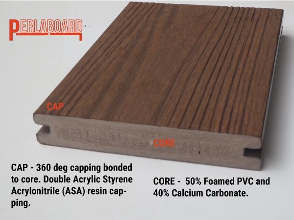 PERLABOARD PLASTIC DECKING CROSS SECTION